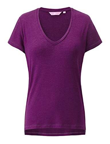 REGNA X Love Coated Woman Purple Casual Oversized Pullover cap sleeve T-shirt 3x,17503_purple,3X (Training Cap Sleeve T-shirt Womens)