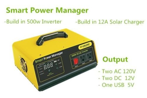 500W Inverter+ Solar/AC Charger Controller Intergrated Kit AC DC 12V USB by SolarLandUSA