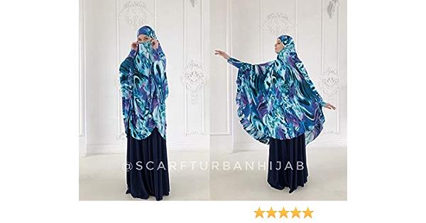 Asma Transformer French Khimar+Abaya+Niqab+Gift  Premium Woolpeach Simple but Elegant Muslimah Abaya Transformer Hijab Muslimah Fashion