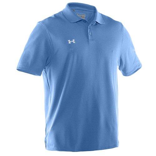 (Under Armour Men's UA Performance Team Polo Carolina Blue/White)