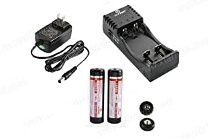 XTAR WP2II 3.7V Li-ion battery charger and 2pc XTAR 18650 3100mAh battery(Panasonic cell inside) Kit