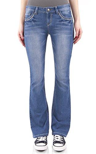 WallFlower Women's Juniors Classic Legendary Stretch Bootcut Denim Jeans