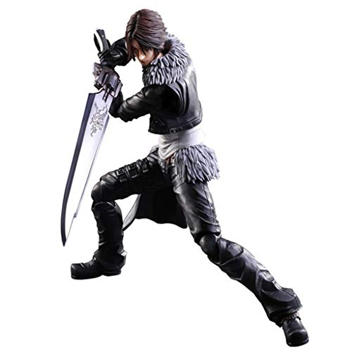 Siyushop Dissidia Final Fantasy Play Arts Kai: Squall Leonhart Action Figure - Equipped with Weapons and Replaceable Hands - High 28CM (Best Final Fantasy 15 Weapons)