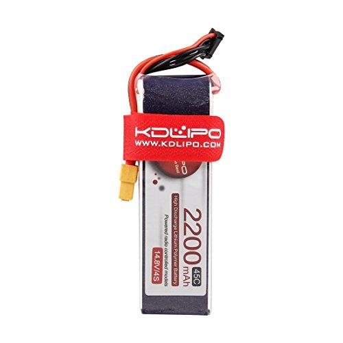 Kudian Lipo Battery 4S 2200mAh 14.8V 45C with XT60 Plug for FPV Racing Drone by Weyland