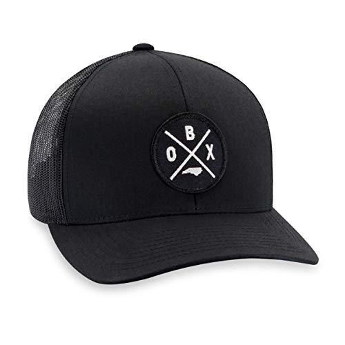 - OBX Hat - Outer Banks Trucker Hat Baseball Cap Snapback Golf Hat (Black)