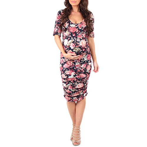 Women's Ruched Maternity Dress - Made in USA ()