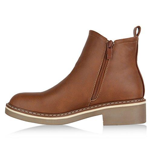 61f7c158d954 Stiefelparadies Damen Stiefeletten Glitzer Chelsea Boots Leder-Optik  Blockabsatz Schuhe Knöchelhohe Stiefel Übergrößen Gr. ...
