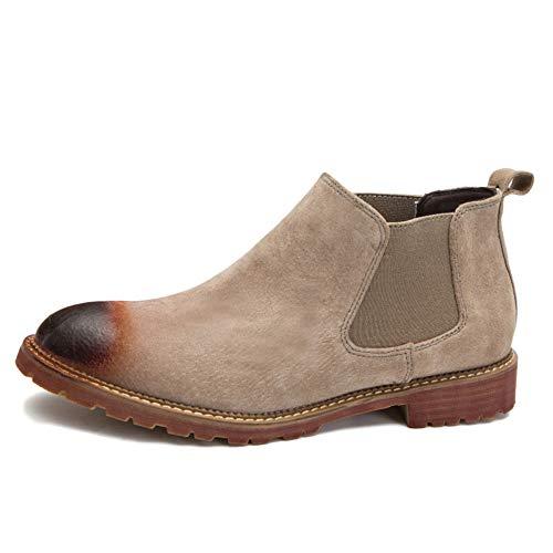 Chelsea Boots Uomo Nero Pelle Matrimonio Sicurezza Brogue Classico Autunno E Inverno Stivali da Uomo Retro Chelsea Grey