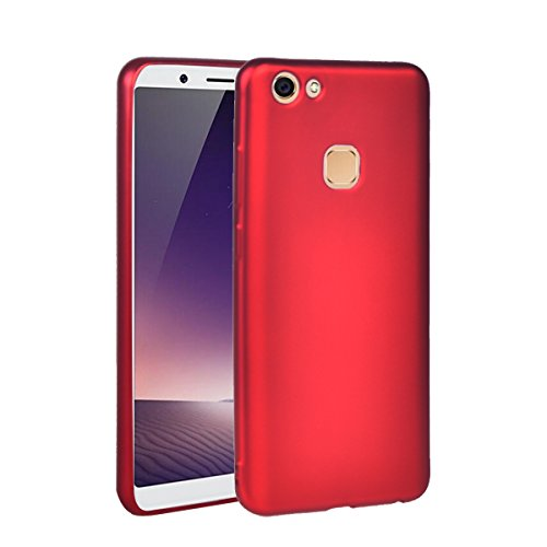 Huawei Y79 / V7 Plus Case, COOLKE Ultra Light Shell Coated Non Slip matte surface Gel soft TPU Case Cover for Huawei Y79 / V7 Plus - Red V7 Ultra Protective Sleeve