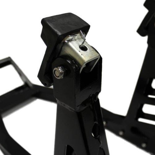 Noir Ryde Support Paddock Avant de Moto en Aluminium
