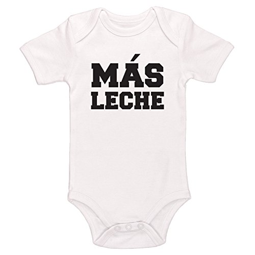 Kinacle Mas Leche Baby Bodysuit (6-12 Months, White)