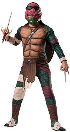 [Rubies Teenage Mutant Ninja Turtles Deluxe Muscle-Chest Raphael Costume, Child Small] (Ninja Zombie Costumes Child)