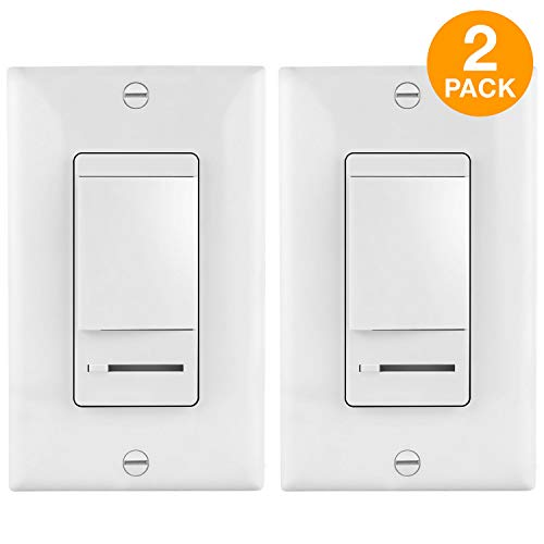 TOPGREENER 2 Pack LED Dimmer Switches with Covers, Single Po