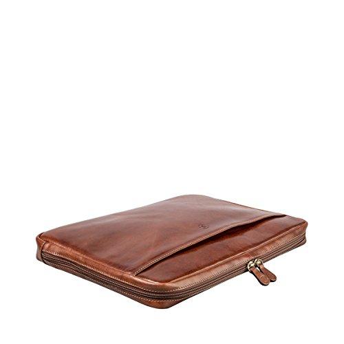 Maxwell Scott Luxury Handmade Italian Leather Laptop / Macbook Sleeve 15 inch (The Verzino) - One Size by Maxwell Scott Bags (Image #4)