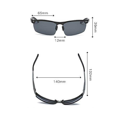 frame Frame lens hommes de pour Silver Couleur Tea LX LSX Black soleil polarisées tea Lens polarisées Gray Lunettes 6Ucq7wv
