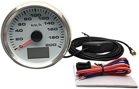ELING Car Motorcycle GPS Speedometer Velometer 0-200KM//H Speed Odometer Mileage with Backlight 85mm