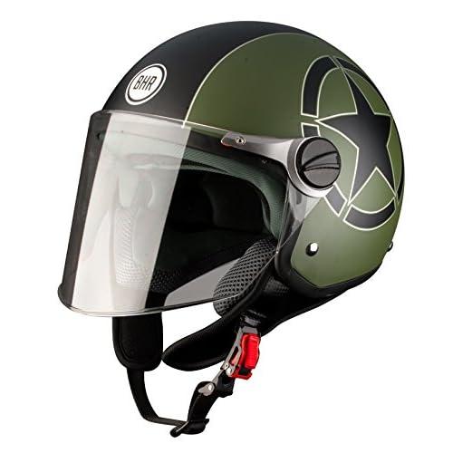 BHR 93834 Demi-Jet Estrella 710 Casco de Moto, Color Verde, Talla 59