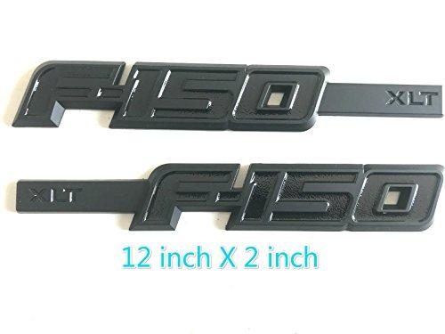 Tacraft F-15B F-150 XLT Side Fender Emblem Badge For Ford F150 (Black)