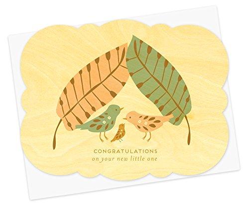 Night Owl Bird (Baby Bird Wood Congratulations Card by Night Owl Paper Goods)