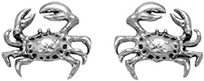 Small Sterling Silver Crab Stud Earrings