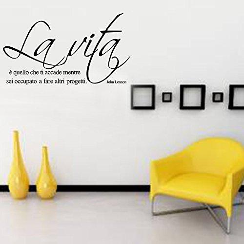 LifeUp Disegn Originale- Adesivo Murale Frase Italiano Soggiorno ...