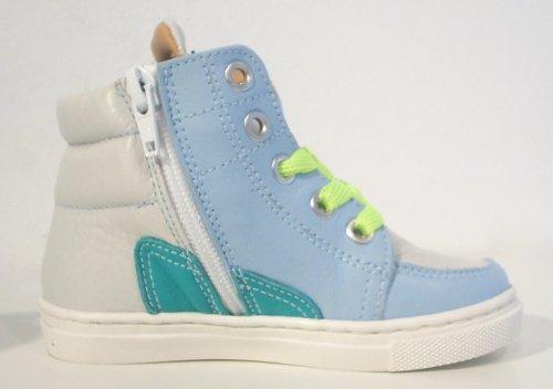 MAA ® High Top Sneaker UNISEX blau weiss Reißverschluss
