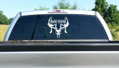 Amazoncom Buck Fever Deer Skull Hunting Bowhunting Decal For - Bow hunting decals for trucks