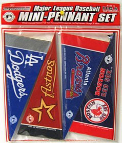 MLB Mini Pennant Set (all 30 Teams) by Rico Tag - Nba Mini Pennant Set