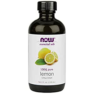 NOW Essential Oils, Lemon Oil, 4-Ounce