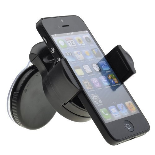 Zeimax Car Vehicle Windshield Suction cup mount Rotating Holder for iPhone 5 (White) (Mount)