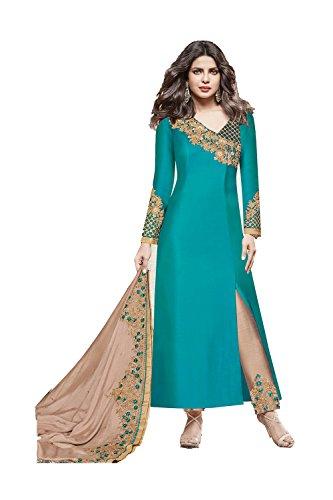 Progettista Facioun Traditonal Salwar 3 Ethnic Kameez Partywear Kameez Designer Traditonal Da Da Donne Blue Etnica Facioun Partywear Indiane 3 Blu Women Indian Salwar OwSFS