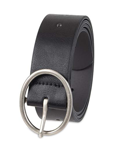 Amazon Essentials Women's Plus Size Fully Adjustable Casual Belt with Rounded Buckle, Black, 3X (Belts 3x)