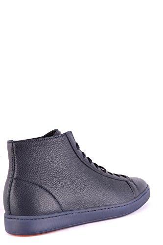 Sneakers Alte In Pelle Blu Santoni Uomo Mcbi267030o