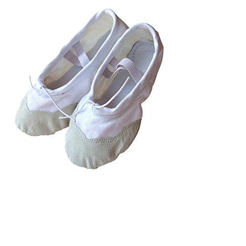 kein schmetterling Canvas Ballettschuhe - Zapatillas de danza de lona para niña Blanco