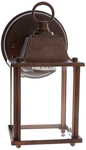 Boston Harbor AL1037-RB3L 3557139 Dimmable Outdoor Lantern, (1) 60/13 W Medium A19/Cfl Lamp, Rustic, - Harbor Boston Light Outdoor