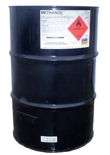 55 Gallon Drum of Pure Methanol Racing Biodiesel Gasoline Antifreeze Windshield Wiper Fluid