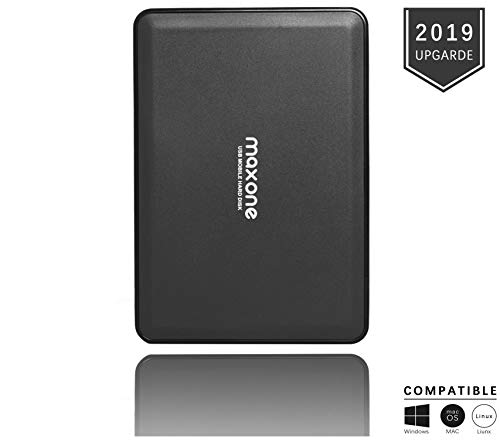 Portable External Hard Drive 160GB - Maxone Upgrade Portable HDD USB 3.0 for PC, Laptop, Mac, Chromebook, Smart TV - Black