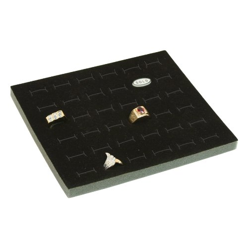 888 Display Black Jewelry Foams Ring Foam Display Insert Liner 36 Slot Ring Foams 7 3/4
