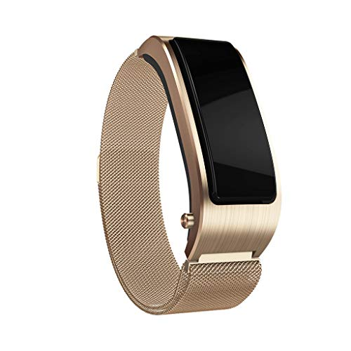(Sunward 2 in1 Bluetooth Smart Watch Bracelet Multifunction Wristband with Headset Fitness Calorie Counter Watch for Women Men Gifts)