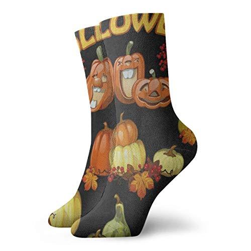Mens Womens Crew Socks Halloween Holiday Party Pumpkin
