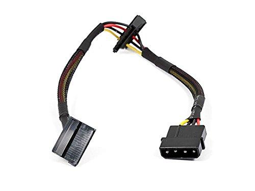 Monoprice 108793 12-Inch 4-Pin Molex Male to 2 15-Pin SATA II Female Power Cable Net Jacket