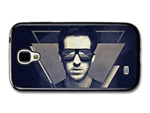 AMAF ? Accessories Calvin Harris Portrait with Sunglasses Blue Illustration case for Samsung Galaxy S4