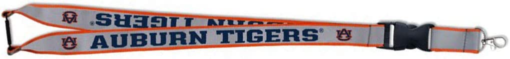 WinCraft Auburn Tigers Premium Reflective Lanyard with Both Detachable End and Safety Breakaway