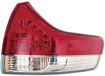 for 2011-2014 Toyota Sienna Rear Tail Light Lamp Assembly // Lens // Cover Passenger 81550-08030 TO2805107 Replacement 2012 2013 Right Side Outer - Go-Parts Base Model + LE + Limited + XLE