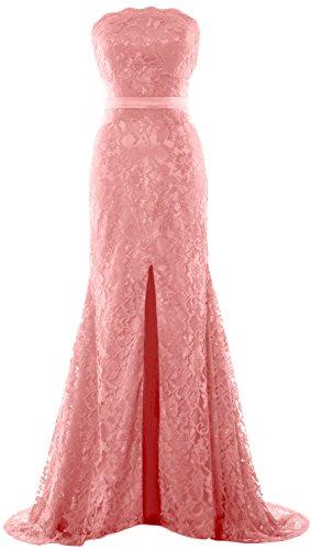 Pink di da Prom abito Blush formale Sirena spalline Donna MACloth Dress sera senza festa nozze wX6gw8xq