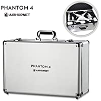 DJI Phantom 4 Carrying Case, Airhornet Aluminum Protective Hard Carrying Case for DJI Phantom 4 /Standard/Professional/ Advanced , silver