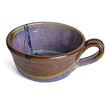 Amazon Com Larrabee Ceramics Handled Soup Bowl Burgundy
