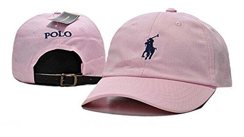 Cap One Pink Baseball (Polo Unisex Cotton Cap Adjustable Baseball Hats Pink One Size)