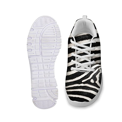 Lightweight Animals Pattern HUGS IDEA Zebra Sneakers Running Fashion Women's wqOaBxXaCZ