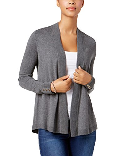 Charter Club Open-Front Cardigan (Charcoal Heather, XXL)